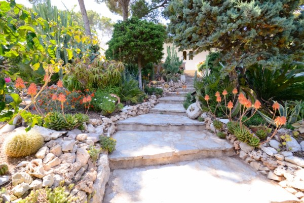 Treppenaufgang Ferienhaus ohne Schwimmbad und Whirlpool
