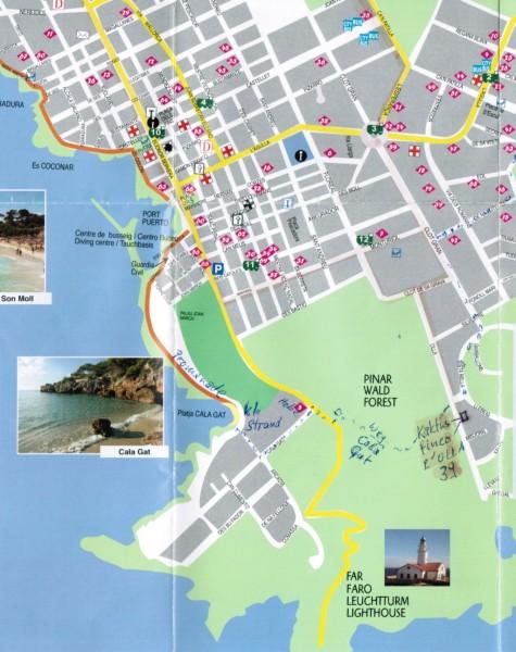 Karte Cala Ratjada